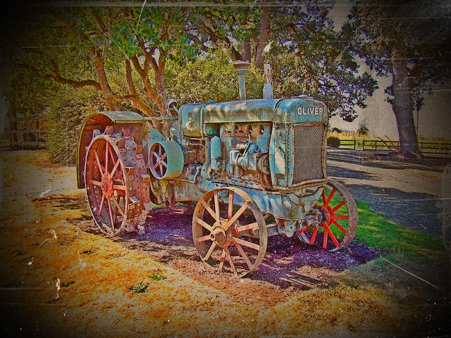 Oliver Tractor Photograph - Oliver Tractor 2 by Nick Kloepping
