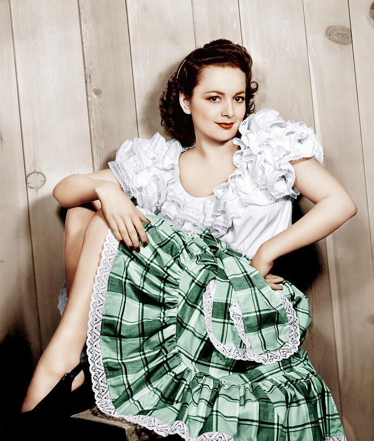 De Havilland Photograph - Olivia De Havilland, Ca. 1948 by Everett
