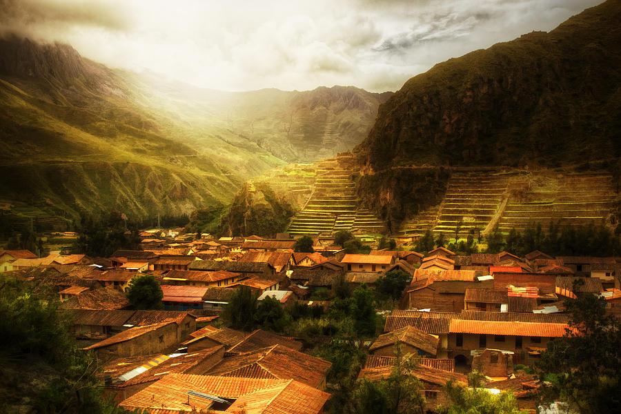 Valley Photograph - Ollantaytambo by Stuart Deacon