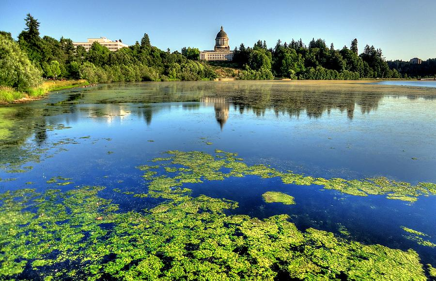 Olympia Capitol Lake Photograph By Peter Mooyman