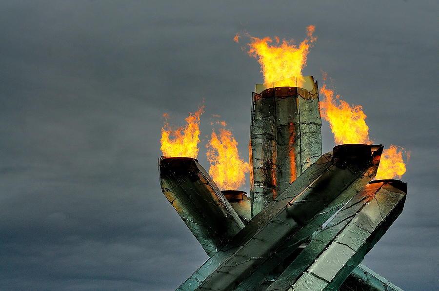 Olympic Photograph - Olympic Cauldron by Sandra Sigfusson