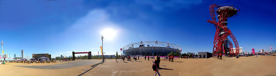 Stratford Photograph - Olympic Park  by Keith Sutton