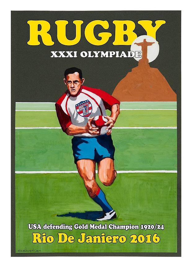 Olympic Rugby Digital Art by Jon Prusmack
