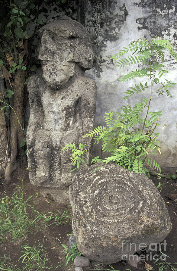 Nicaragua Photograph - Ometepe Sculptures Nicaragua by John  Mitchell