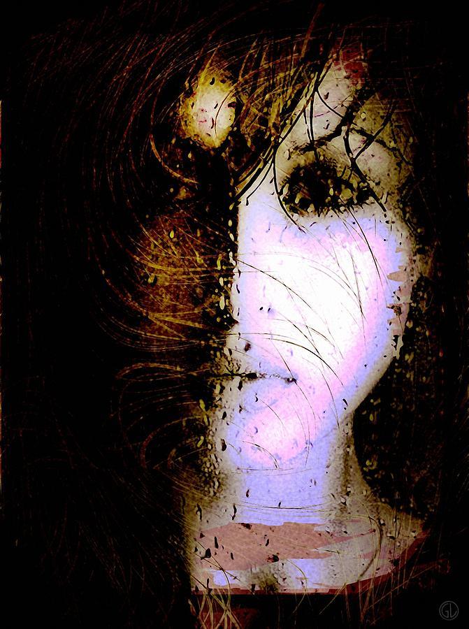 Woman Digital Art - On A Rainy Day Like Today by Gun Legler