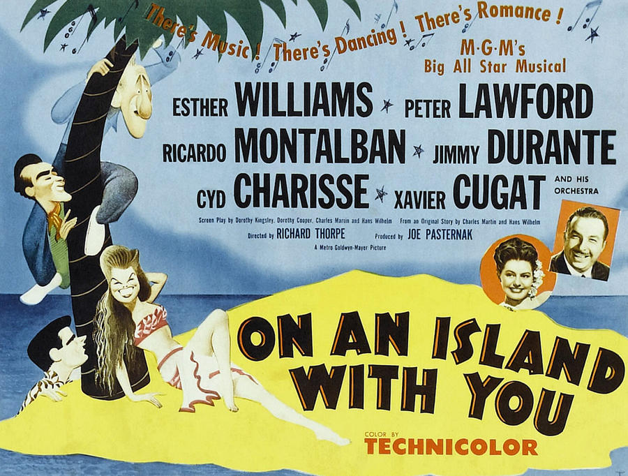 1940s Movies Photograph - On An Island With You, Peter Lawford by Everett