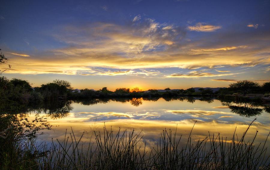 Sunset Photograph - On Golden Shores  by Saija  Lehtonen