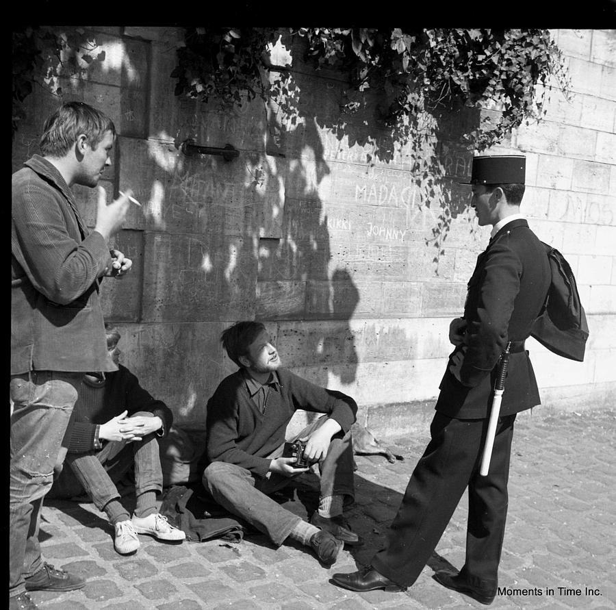 History Photograph - On Patrol Paris 1963 by Glenn McCurdy