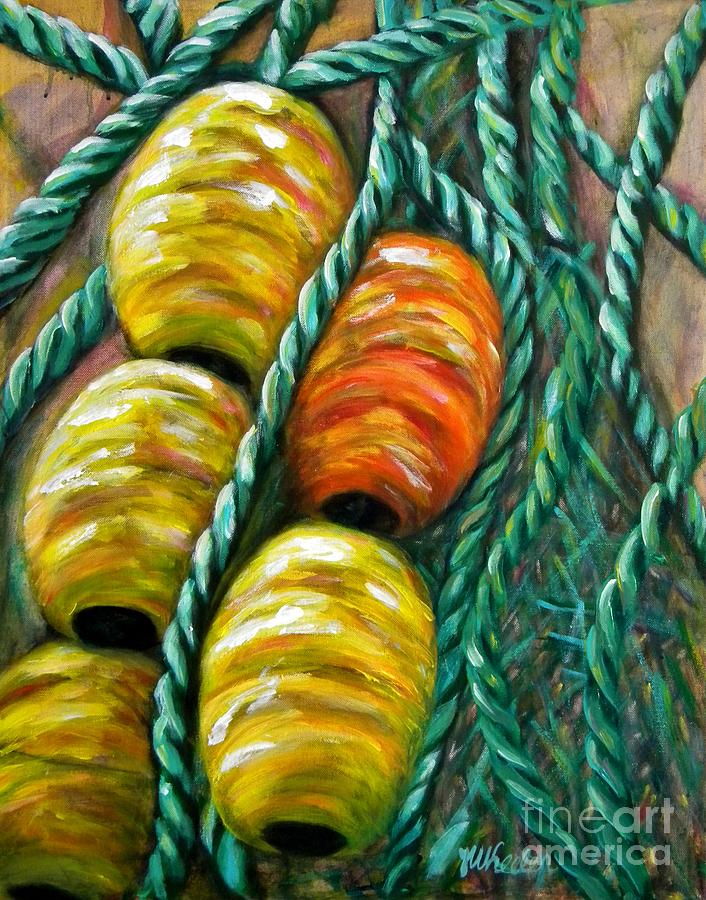 Floats Painting - On Stand By by JoAnn Wheeler