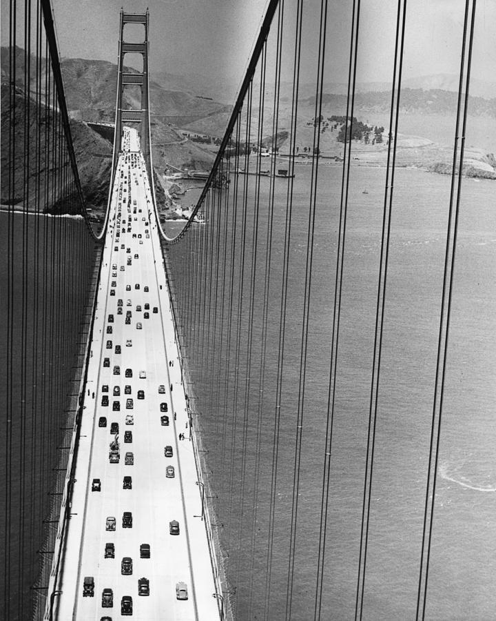 Vertical Photograph - On The Golden Gate by Archive Photos