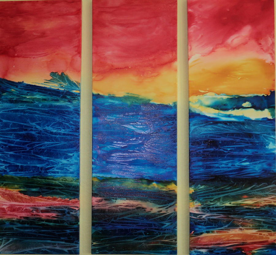 Ocean Painting - On The Gulf by Susan Kubes