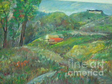 On The Hill Painting by Ilona Pincse
