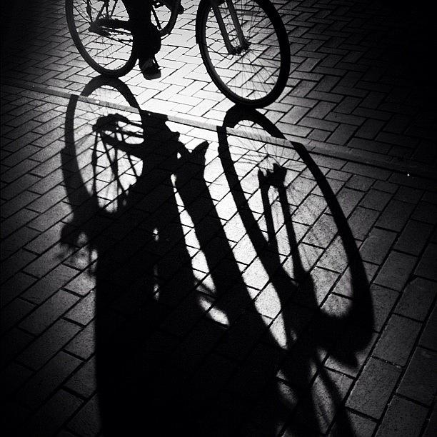 Cyclist Photograph - On The Move. See Yall Later! #bycicle by Robbert Ter Weijden