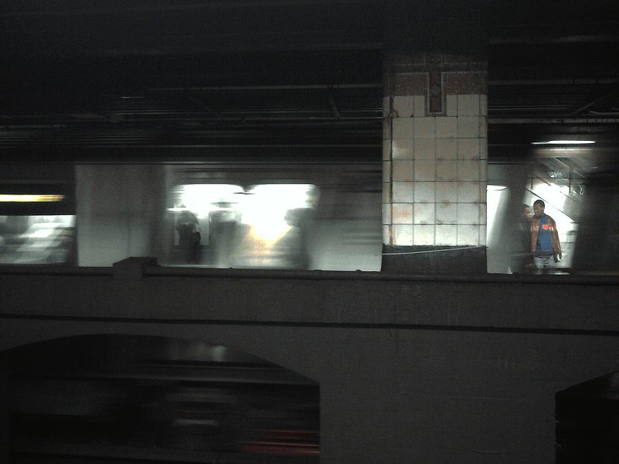 Movement Photograph - On The Platform by Christine Burdine