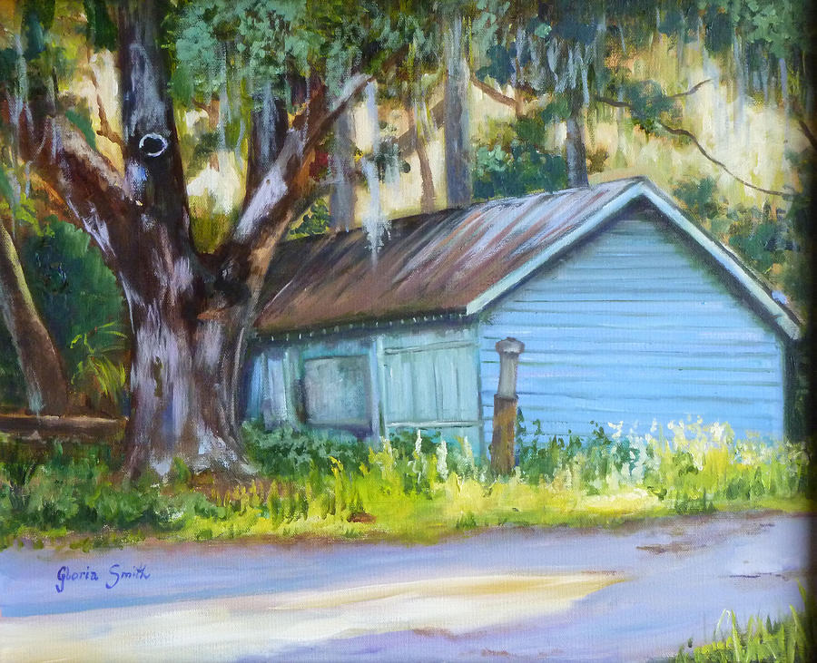 Oak Tree Painting - On The Road by Gloria Smith
