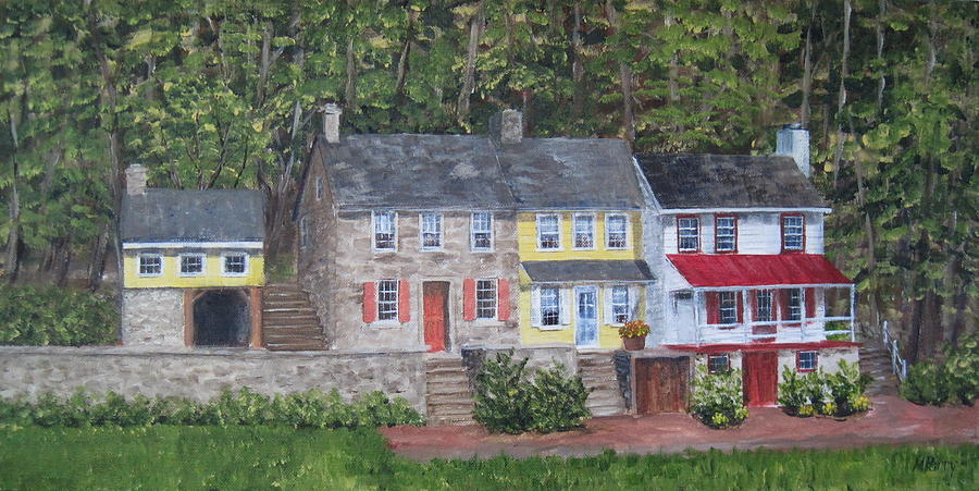 Frenchtown Painting - On The Road To Frenchtown by Margie Perry
