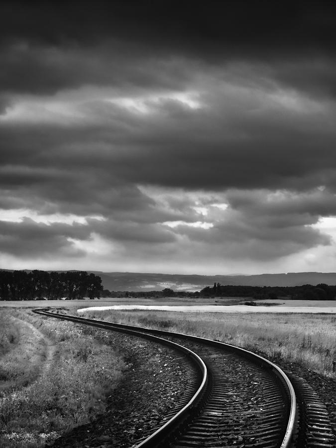 Field Photograph - On The Track I. by Jaromir Hron