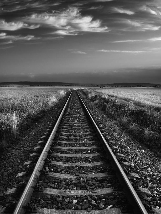 Fields Photograph - On The Track II. by Jaromir Hron