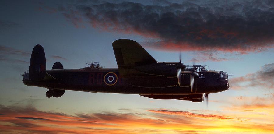 Lancaster Photograph - On Through The Night by Kris Dutson