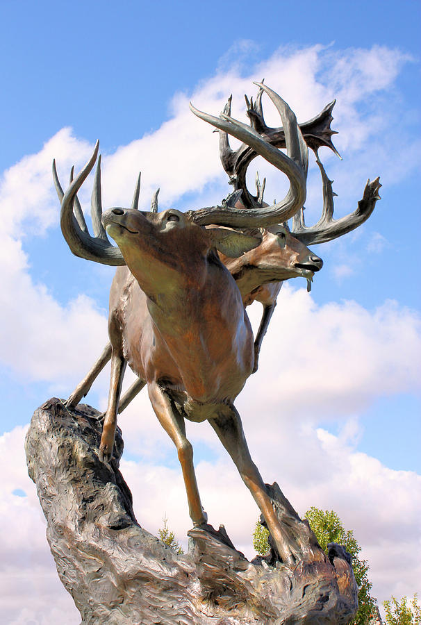 Statue Photograph - On Top Of The World by Kristin Elmquist