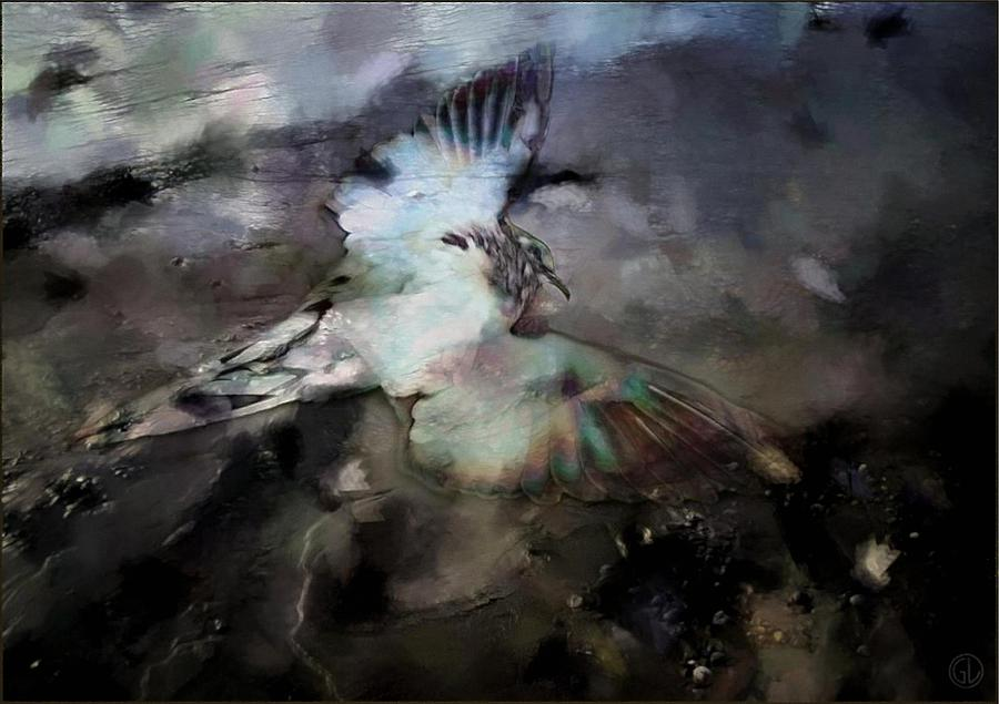 Landscape Digital Art - Once He Flew High by Gun Legler