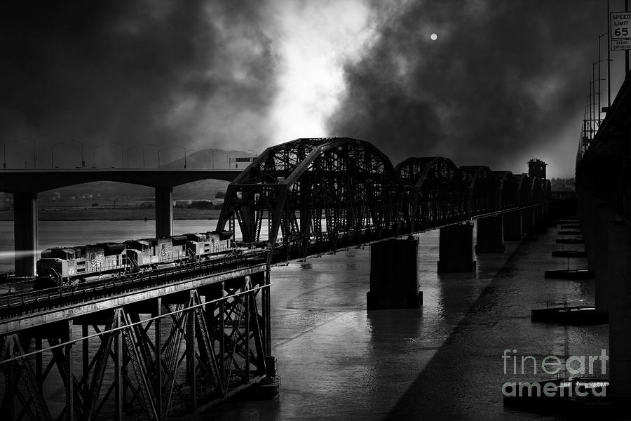 Transportation Photograph - Once Upon A Time In The Story Book Town Of Benicia California - 5d18849 - Black And White by Wingsdomain Art and Photography