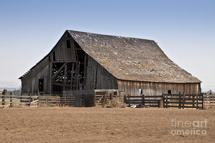 Barn Photograph - Once Was New by Larry Keahey