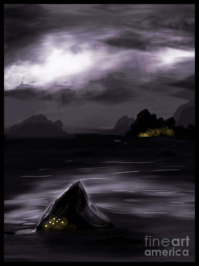 Landscape Digital Art - One Dark Night by J Kinion