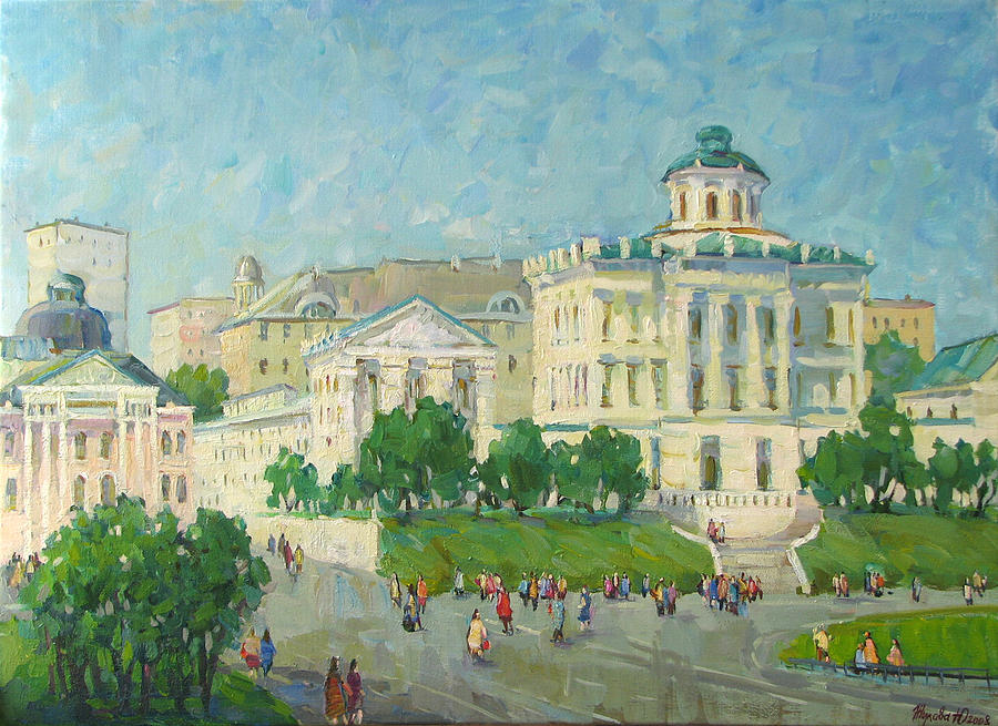 City Painting - One Day In Moscow by Juliya Zhukova