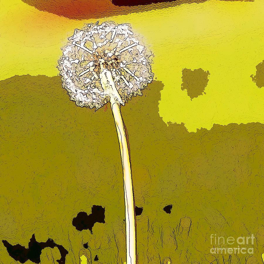 Dandelion Painting - One Day Your Wish Will Come True by Artist and Photographer Laura Wrede