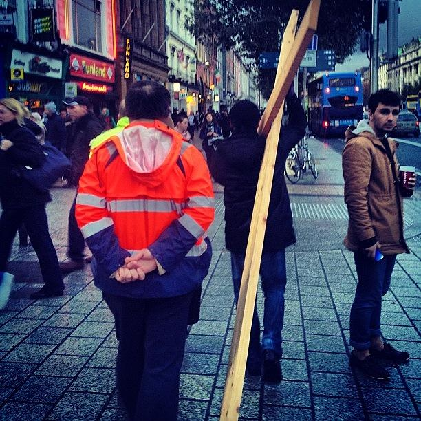 Dublin Photograph - One Giant Cross!! #dublin #photography by David Lynch