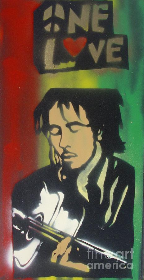 Hip Hop Painting - One Guitar by Tony B Conscious