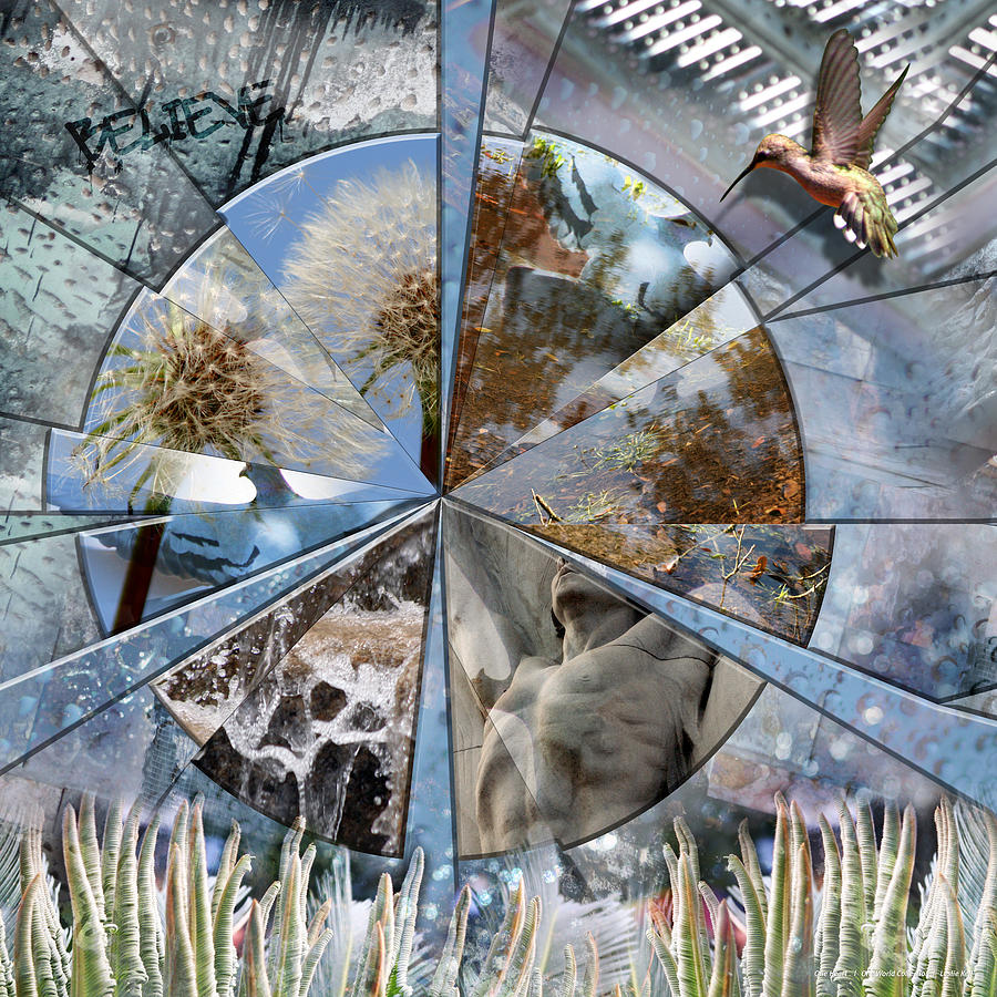 Kell Digital Art - One Heart by Leslie Kell