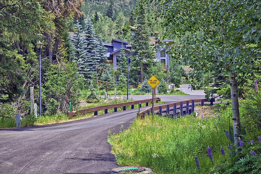 Colorado Photograph - One Lane Bridge - Vail by Madeline Ellis