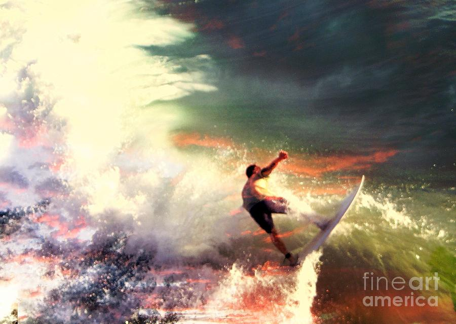 Surfers Photograph - One Last Ride by Kevin Moore