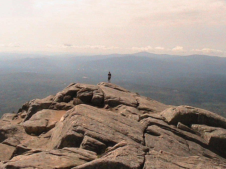 Mountain Photograph - One Man Standing On Top Of The World by Rachel Snell