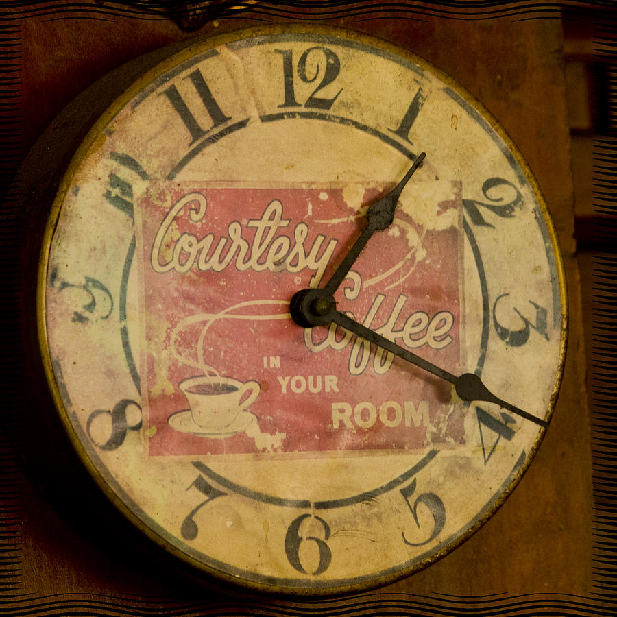 Clock Photograph - One Nineteen by Shelley Bain