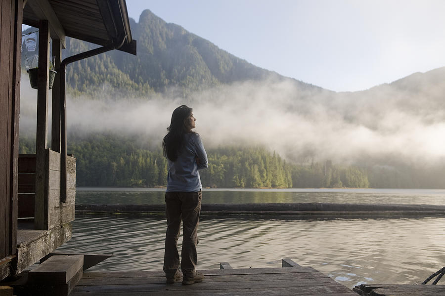 Queen Charlotte Islands Photograph - One Person, Woman, Mid Adult, 30-35 by Taylor S. Kennedy
