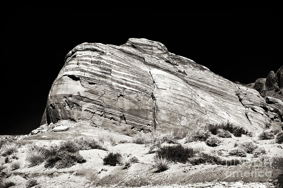Sepia Photograph - One Rock by John Rizzuto
