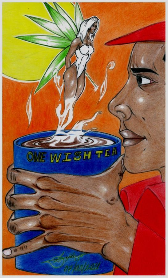 Man Drawing - One Wish Tea by Lorenzo Depluzer
