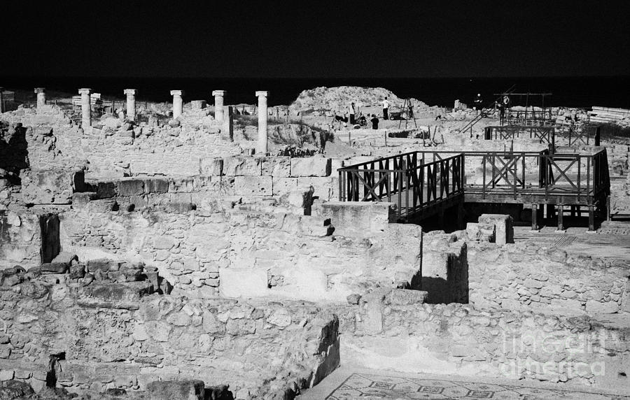 Pafos Photograph - Ongoing Archeological Dig At The House Of Dionysos Roman Villa At Paphos Archeological Park Cyprus by Joe Fox
