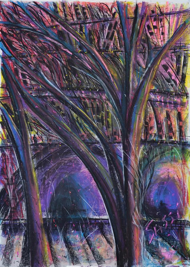City Pastel - Onlooker by Robert M Sassi