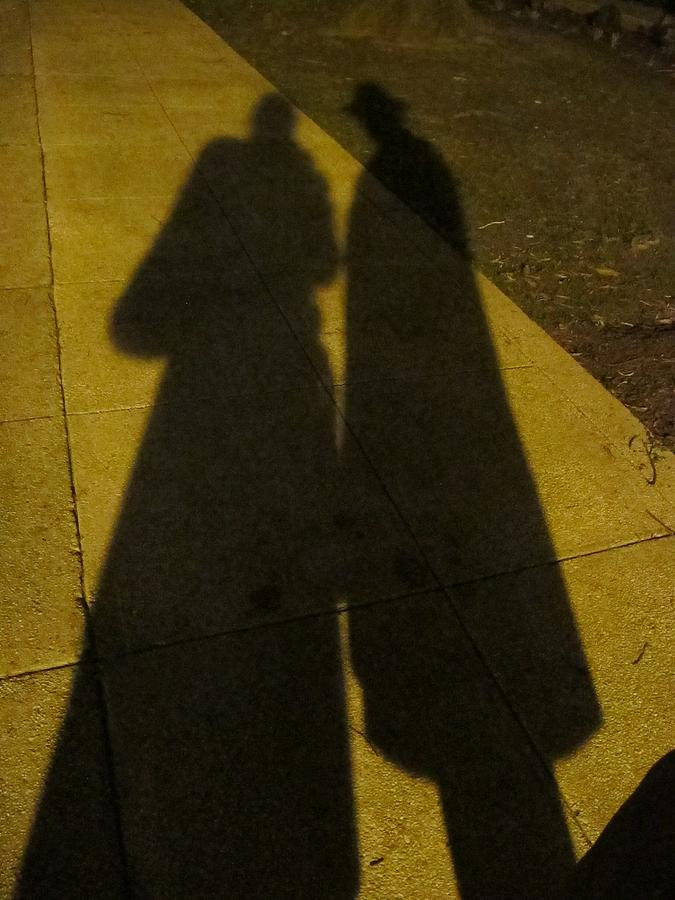 Shadow Photograph - Only The Shadow Knows by Valia Bradshaw