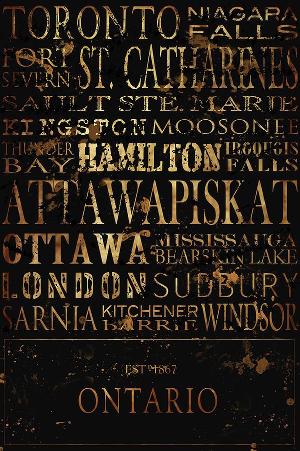 Ontario Photograph - Ontario Typography by Tanya Harrison