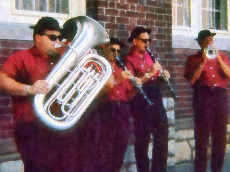 Band Photograph - Oompah Band by Susan Savad