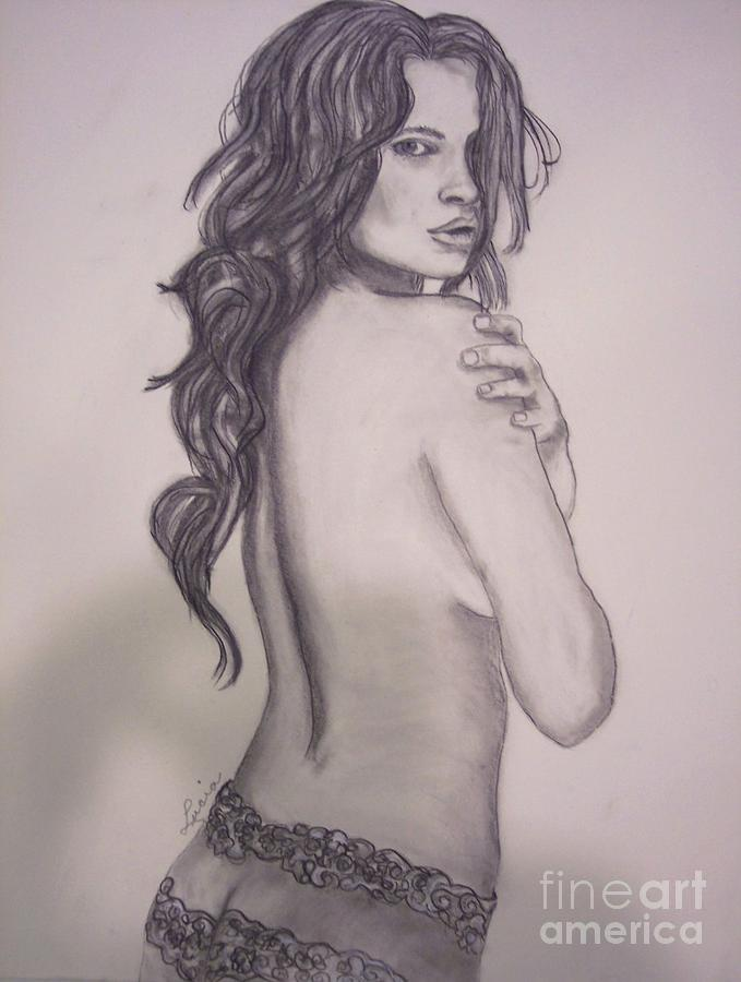 Nude Drawing - Oops by Lucia Grilletto