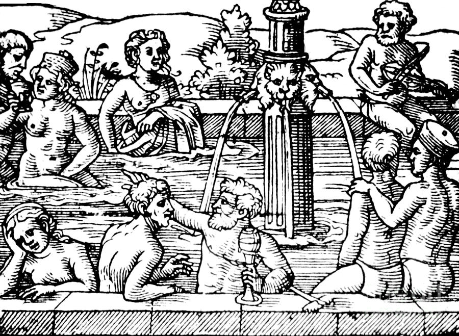 Science Photograph - Open-air Bath Balneology 1571 by Science Source