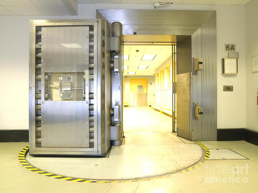 Bank Vault Door : Open bank vault door photograph by adam crowley
