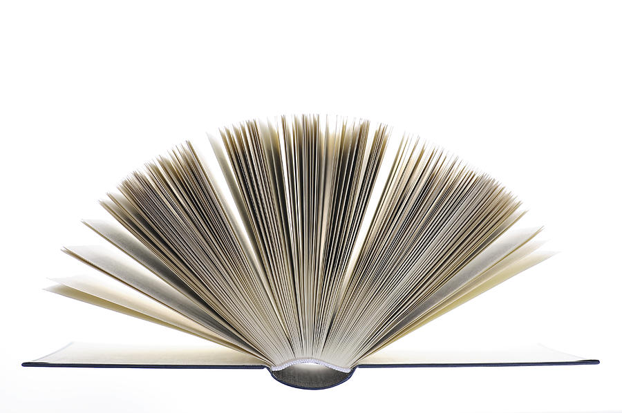 Book Photograph - Open Book by Frank Tschakert