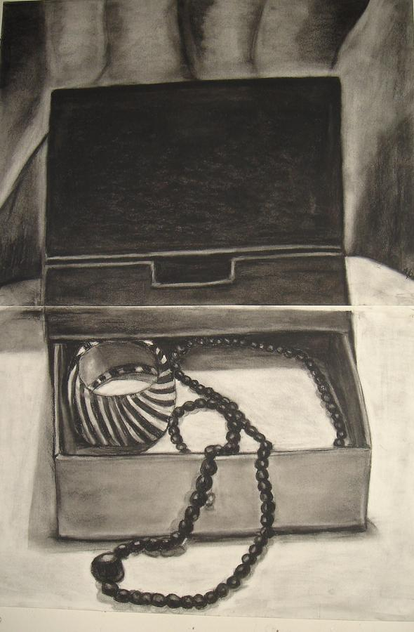 Open Jewelry Box Drawing by Carmel Joseph